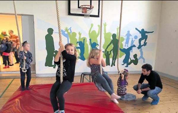 Gymnastiksalen i Hylke Multihus/skole