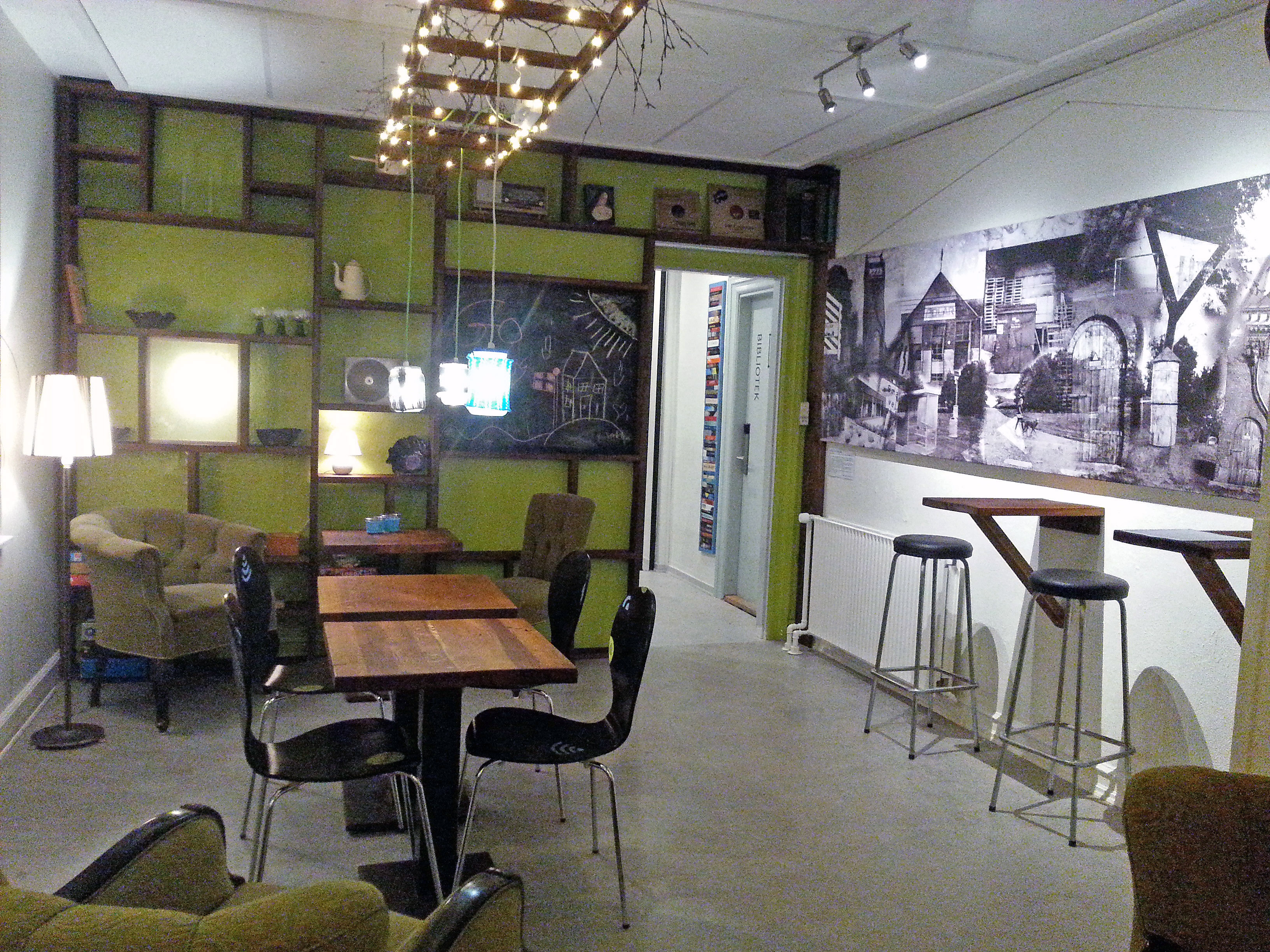 Café-thekøkken i multihuset